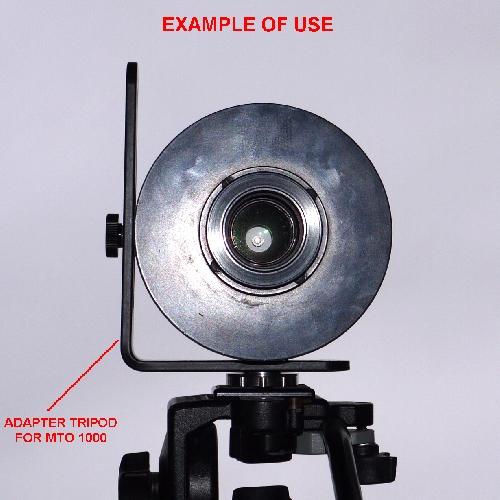 Supporto ultrastabile per cavalletto  doppio attacco 90° x ottica russa MTO 1000