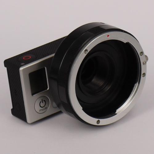 MODIFICA videocamera GoPro per ottiche reflex SRL-DSRL con filtro IR-UV CUT