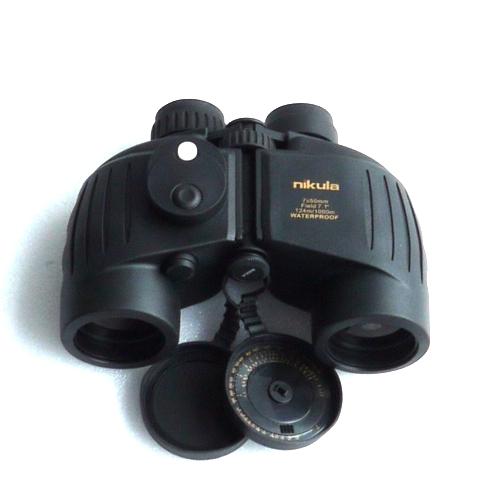 7x50 binocolo WATERPROOF a prisma di porro con BUSSOLA illuminata inattinica