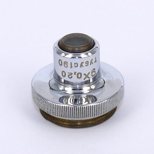 Obiettivo cccp PROGRESS Leningrad per microscopio 9 X 0,20 tubus 190
