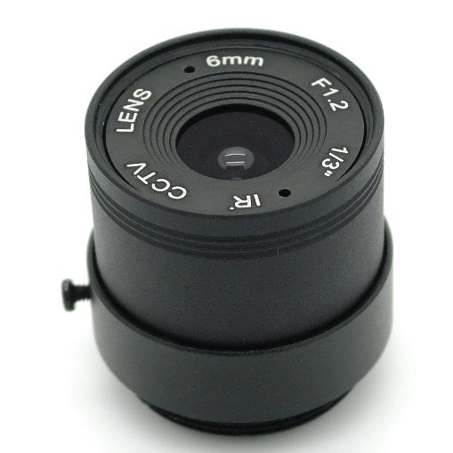 Obiettivo zoom telecamera CCTV passo CS mount f 6 mm 1:1,6  1/3``