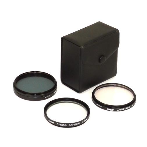 Set di tre filtri KONOS 1A CS PL Made in Japan Ø 49mm diametro