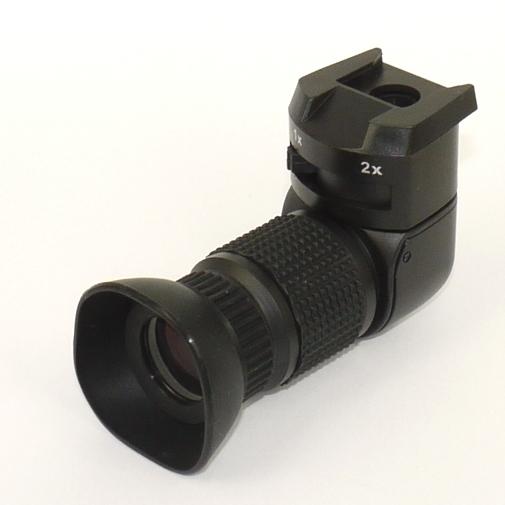 MIRINO ANGOLARE 1X - 2 X universale Canon Nikon Pentax Sony Leica ...