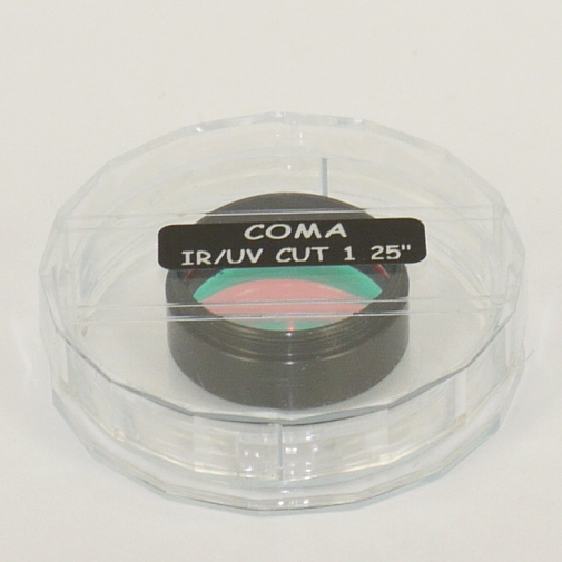 FILTRO dielettrico IR-UV CUT COMA Rejection filter  Ø 31.8 ( 1,25 `` )