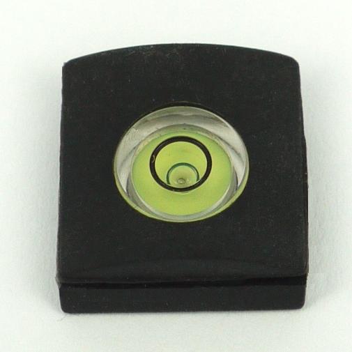 Bolla di livella 360° per fotocamere attacco slitta flash con supporto in gomma