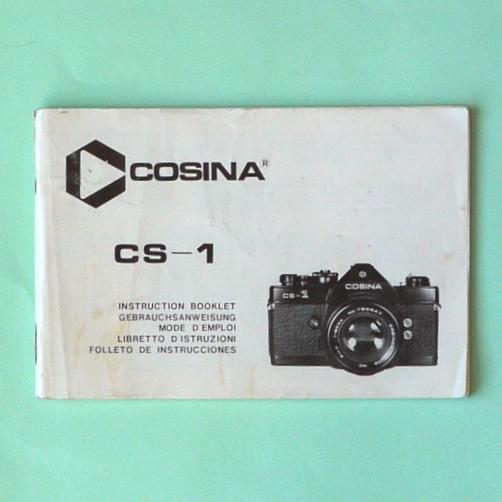 Libretto istruzioni  per fotocamera COSINA CS-1