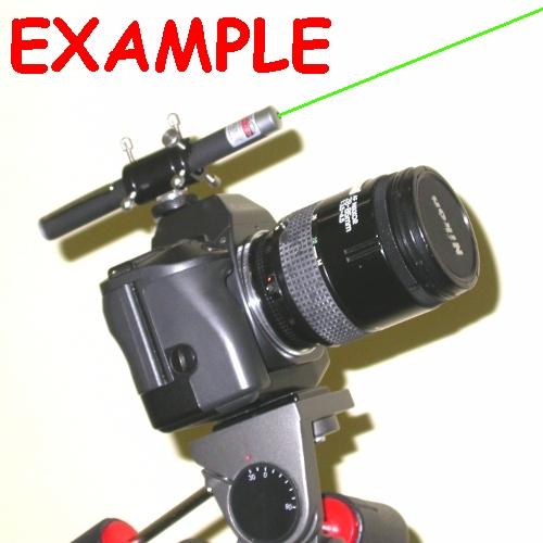 SUPPORTO PUNTATORE cercatore con PENNA laser pen a fotocamera quick release
