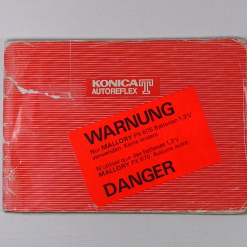 Libretto istruzioni  per fotocamera KONICA AUTOREFLEX T