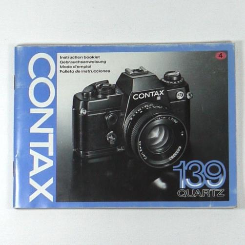 Libretto istruzioni italiano per fotocamera CONTAX 139 QUARTZ