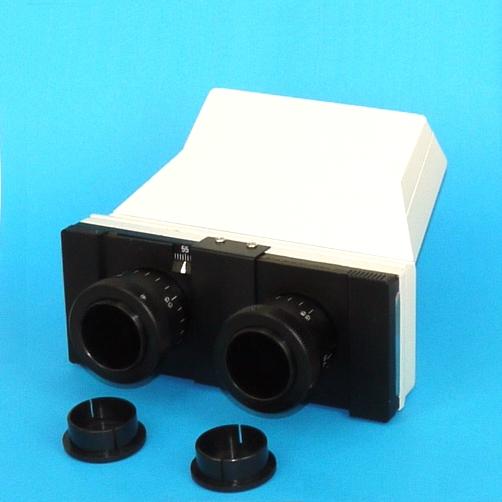 Testa bioculare inclinata a 45°ruotante a 360° microscopio microscope Ø 23,2