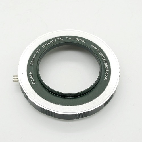 Canon EOS  lens adapter to CCD/CMOS T2 camera Back focus calibrato 10 mm