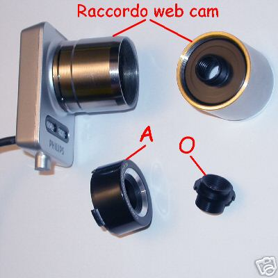 webcam Adaptal web cam  for Philips SPC1000NC / SPC1300NC raccordo adattatore