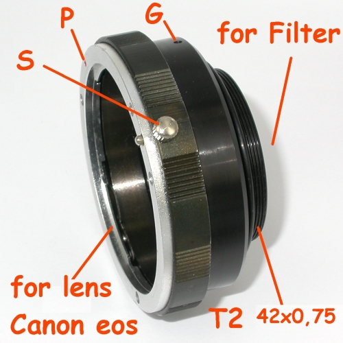 SBIG Camera CCD adapter for lens Canon EOS adattatore per camera ccd filetto t2