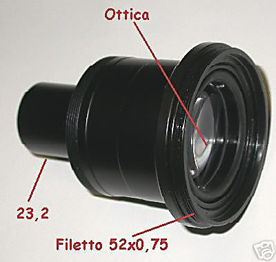Adattatore foto microscopio 23 / adapter photo 23,2 mm
