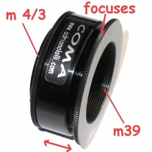 micro 4/3 adapter Enlarging Lens, focuses x ingranditore 39x1 con messa a fuoco