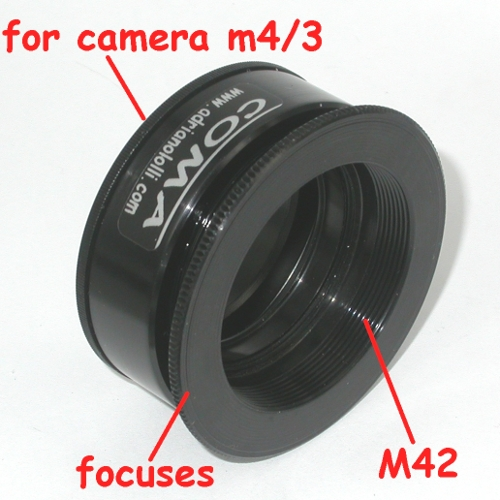 micro 4/3 adapter Enlarging Lens focuses x ingranditore M42 con messa a fuoco