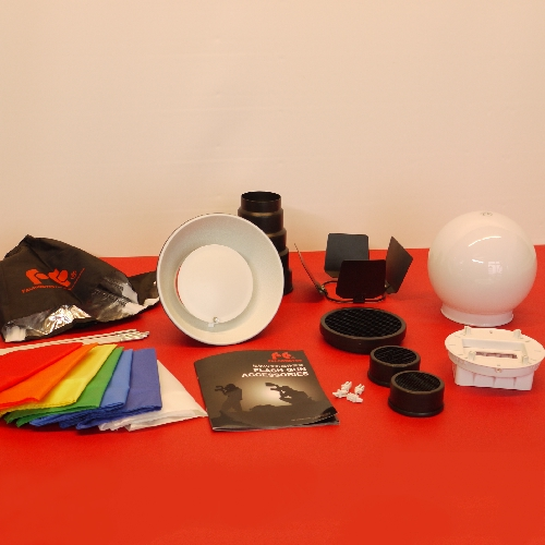 Super kit semi universale per flash, set diffusore a luce diffusa e spot