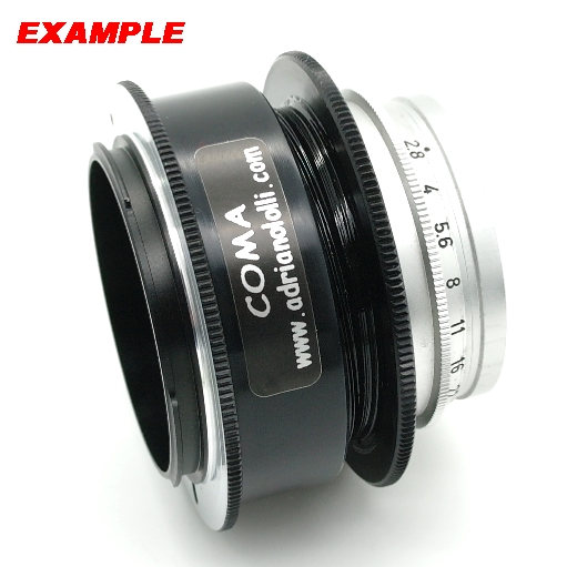 Modifica obiettivo SUMMARON LEITZ WETZLAR 1: 2.8 / 35 mm a mirror less