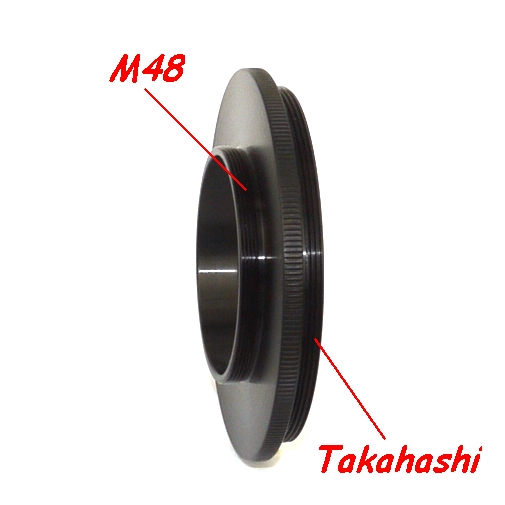 Raccordo filetto M48 su Telescopio Takahashi Ø72mm