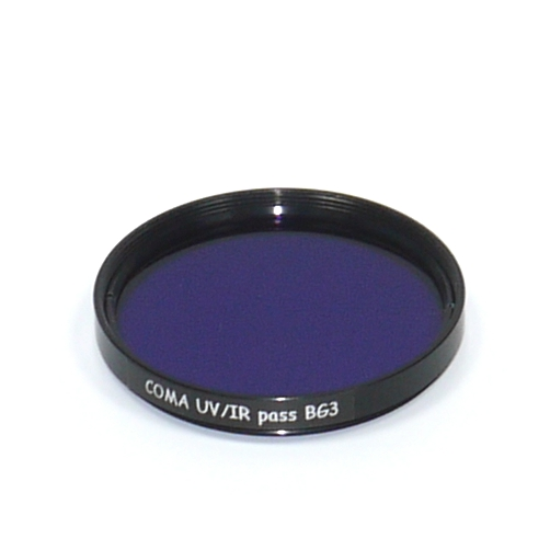 Ultravioletto Filtro vetro ottico UV / IR PASS Schott BG3 Ø 58 mm dual band pass