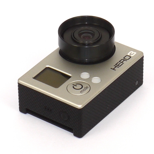 MODIFICA GoPro con obbiettivo 5,4mm 10MP e filtro interno Wratten 25A