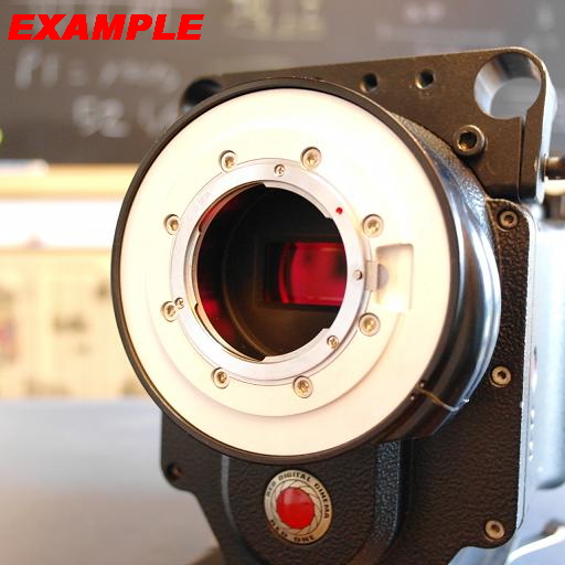 Adattatore adapter custom for lens Nikon to camera RED Mysterium-X