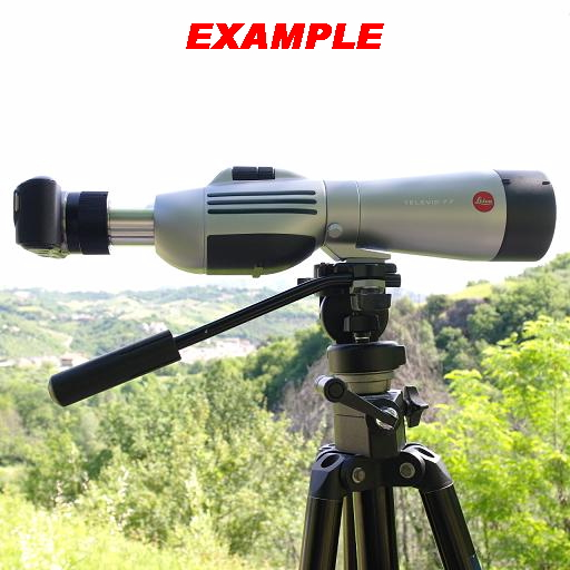 Adattatore foto video per cannocchiali Spotting Scope Leica Televid Ø 41mm