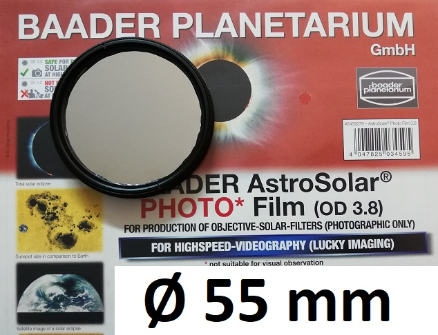 AstroSolar ™ Photofilm Filtro di assorbimento neutro Density 3.8  Ø 55mm