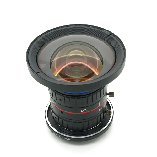 Obiettivo megapixel 8 mm 1:1,4 C mount Modificato con innesto m 4/3 Blackmagic
