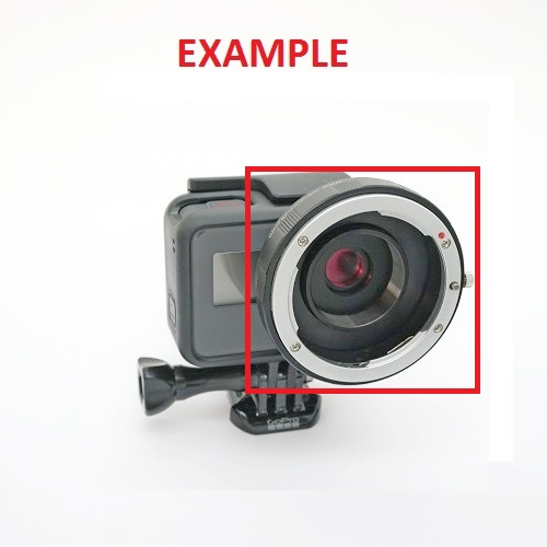 Raccordo Kit modifica GoPro 5,6,7* for lens Nikon,Canon,ecc con filtro IR-UV CUT