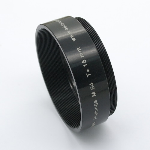 TUBO DI PROLUNGA T 15 mm / EXTENSION TUBE T 15 mm  M 54
