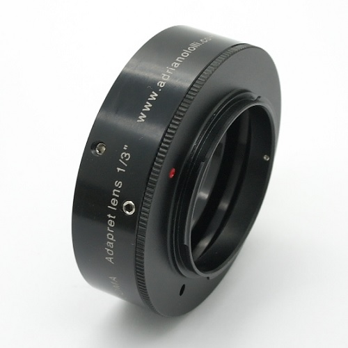 Sony panasonic lumix raccordo per mirror less per obiettivo video 1/3 ''- B4